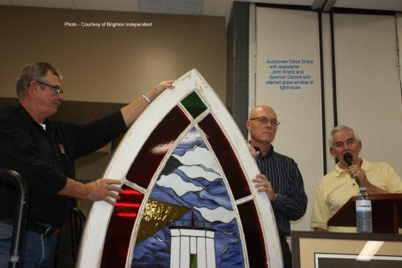 Live Auction Lighthouse Stained Glass window
