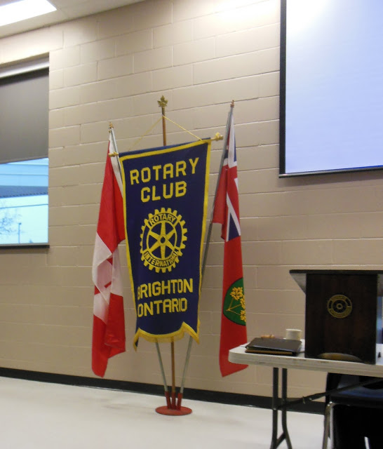 Presentation to the Rotary Club of the Presqu'ile Point Lighthouse work. Brighton, Ontario